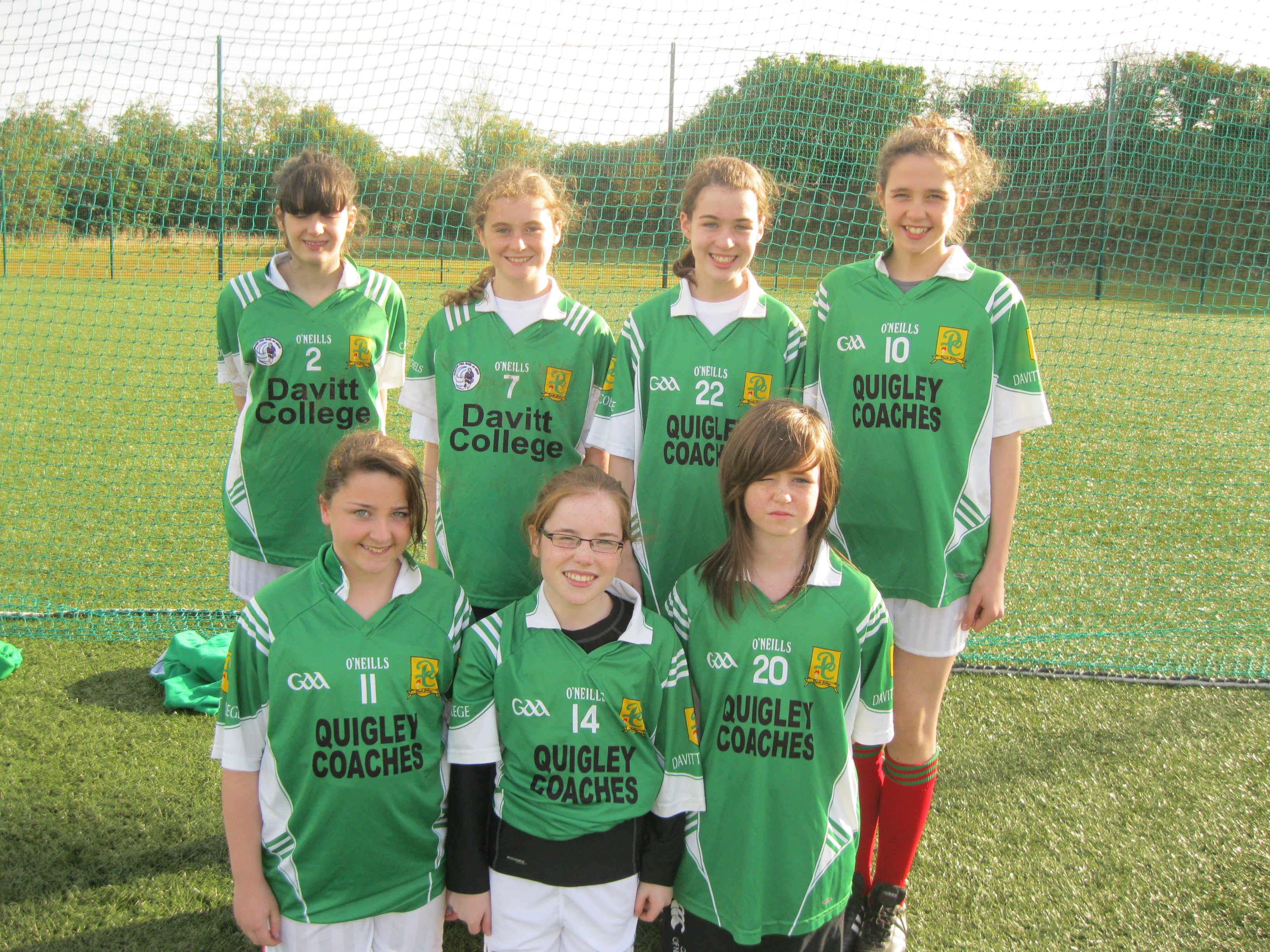1st Yr Girls 7-a-side Soccer Team