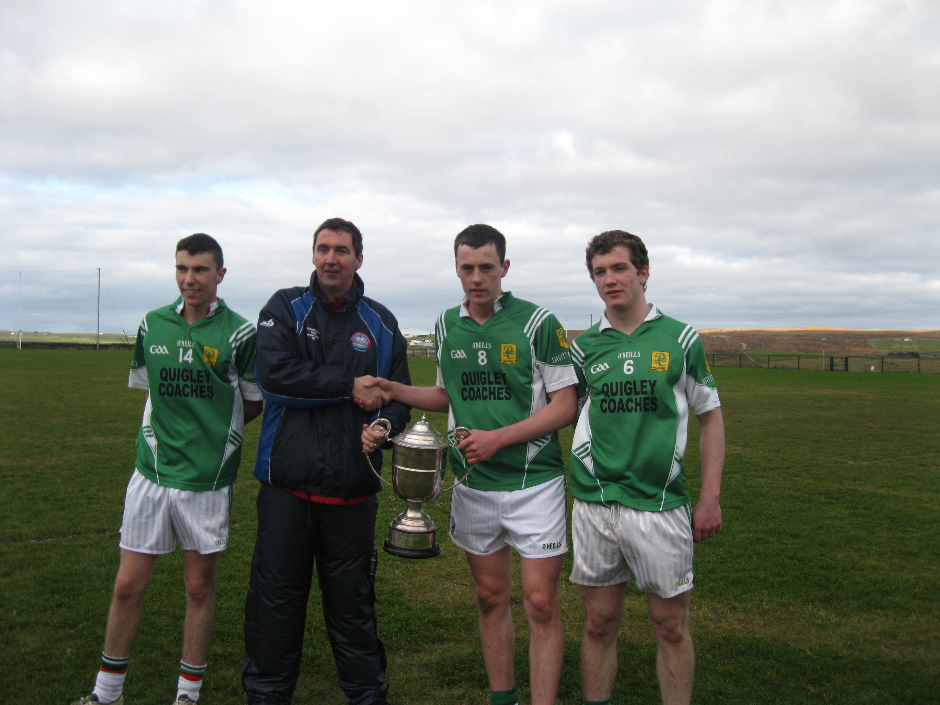 Diarmuid O'Connor Senior Captain - County Champions