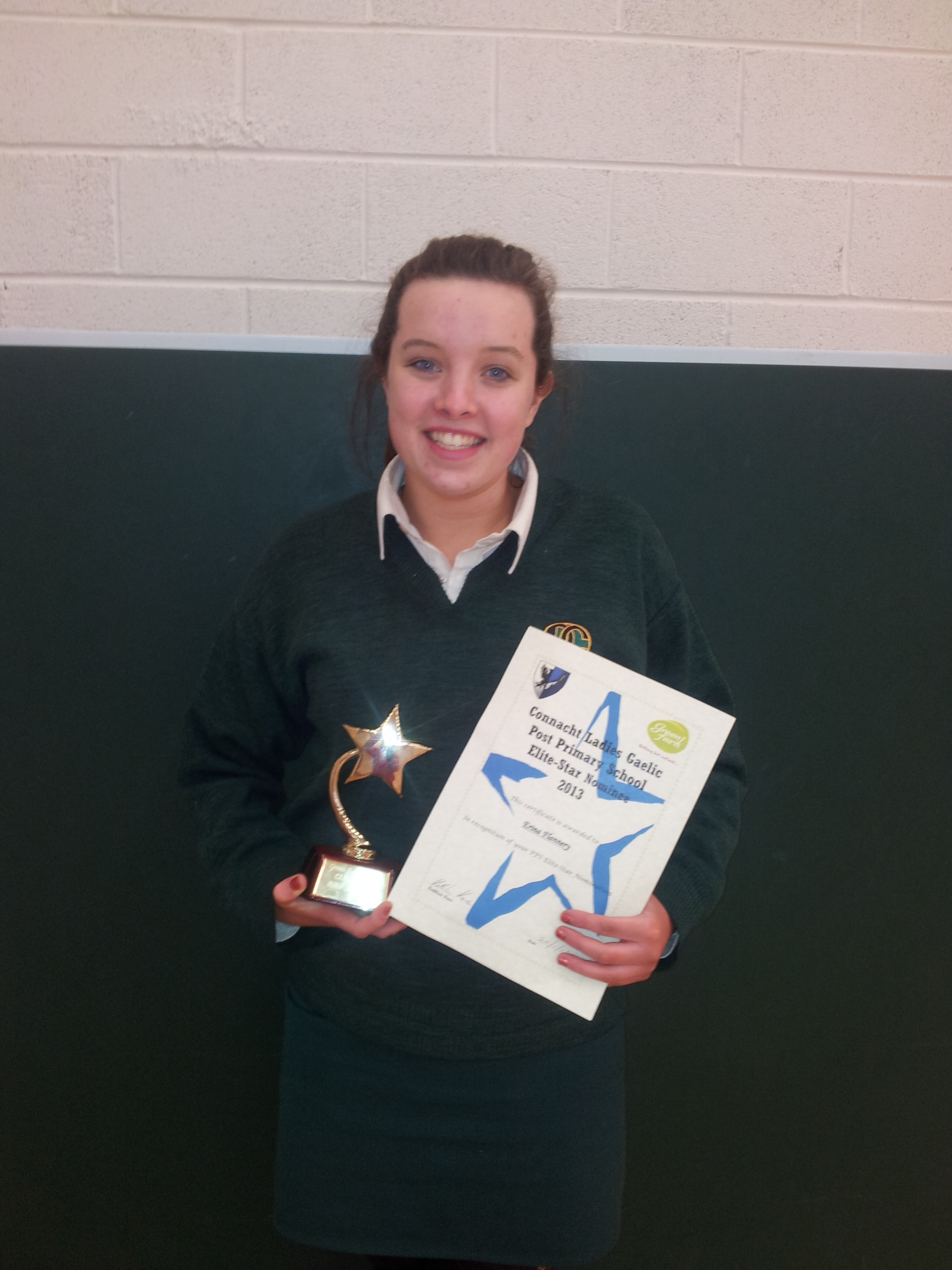 Erina Flannery nominated for the Connaught Ladies Gaelic PPS team 2013