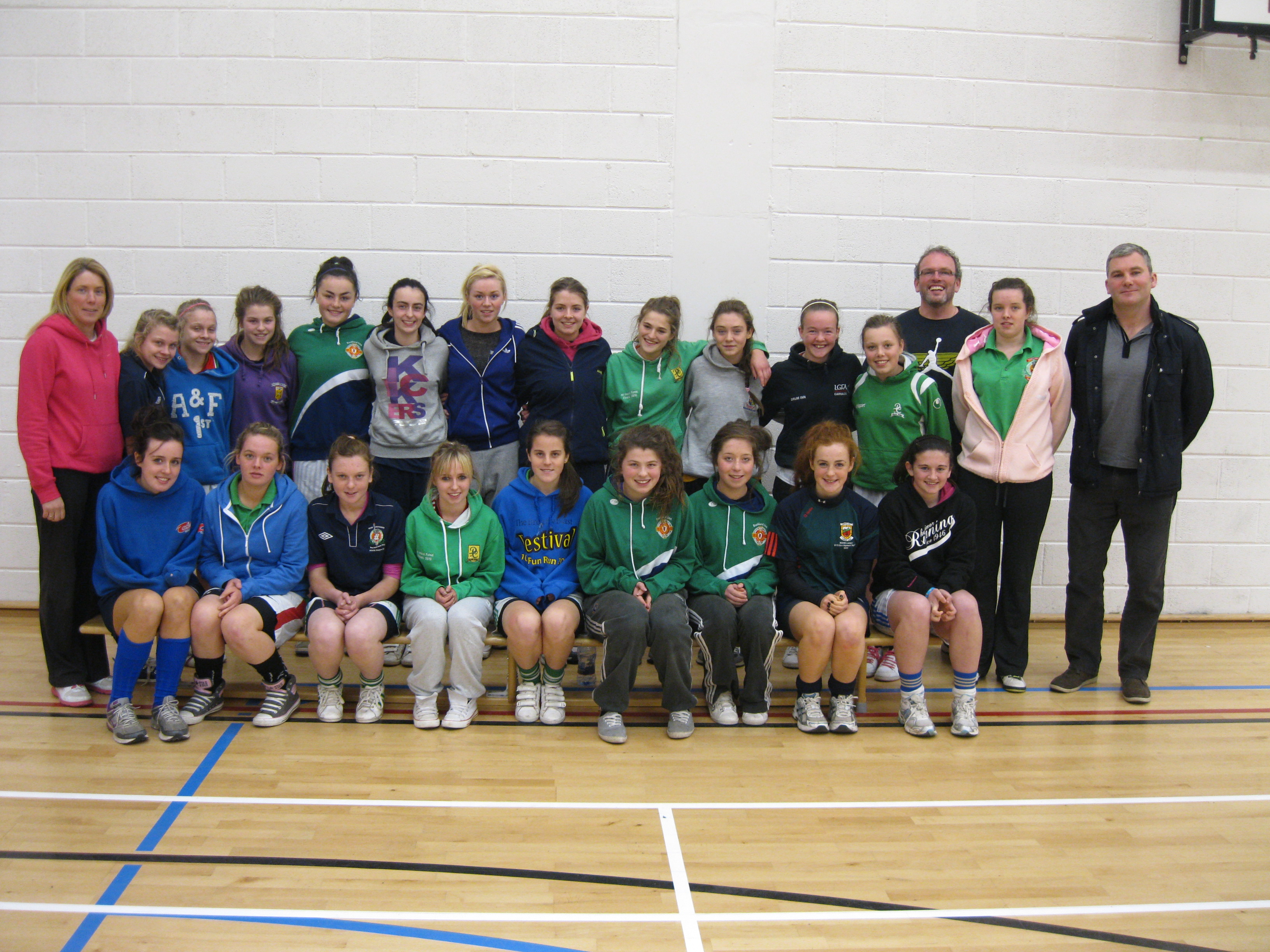 James Horan presents training workshop to Girls Gaelic Squad