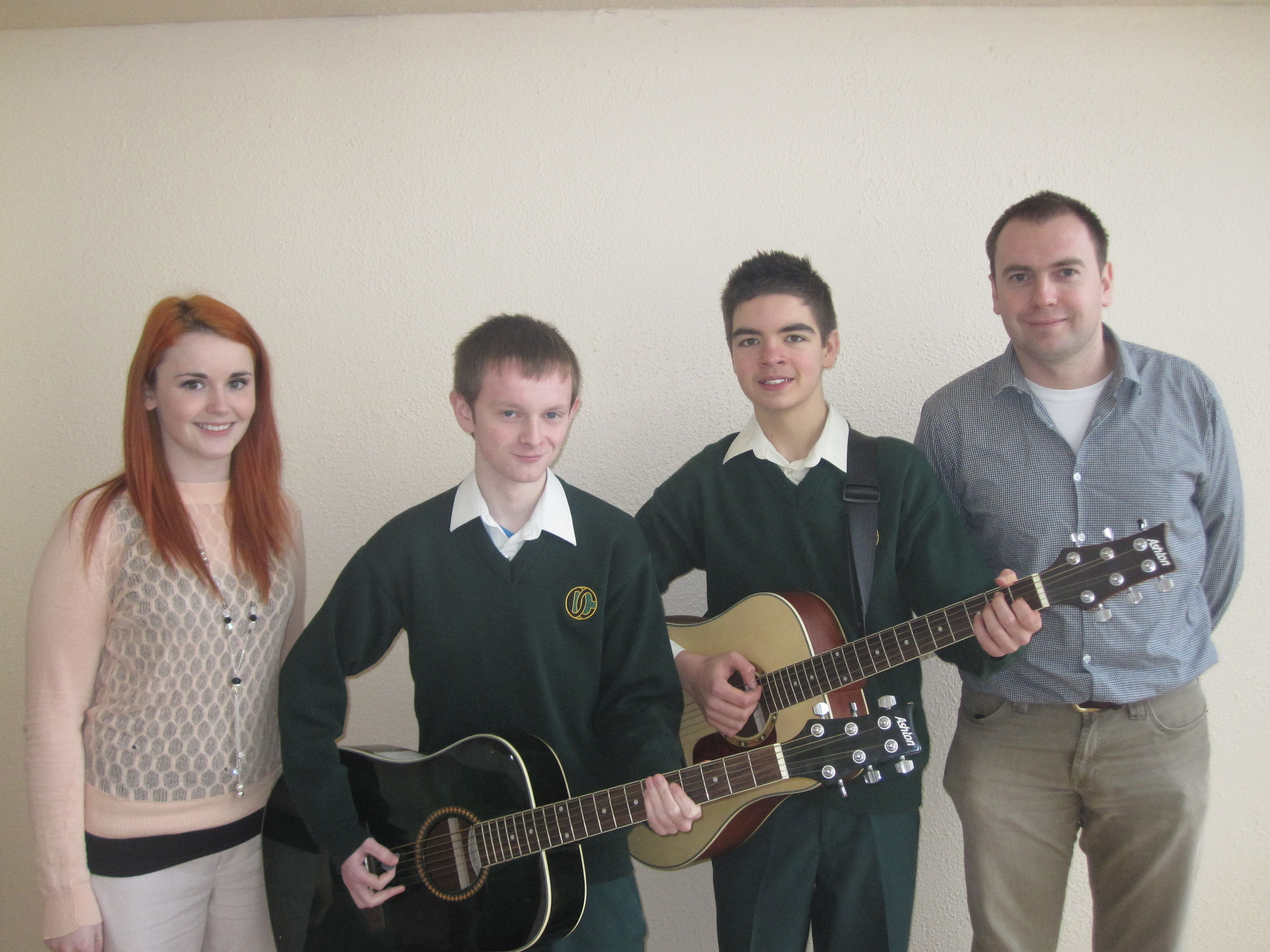 "Congratulations to 2nd Year student Ethan Carey and 5th Year students Ethel Hoare and Cathal Noonan, who took part in the Semi-Final of ""Our Schools Got Talent"".  We wish Ethan, who is accompanied by Cathal, the very best of luck in the Final of the competition which is due to take place on Sunday 27th January 2013 in the TF Royal Theatre, Castlebar"