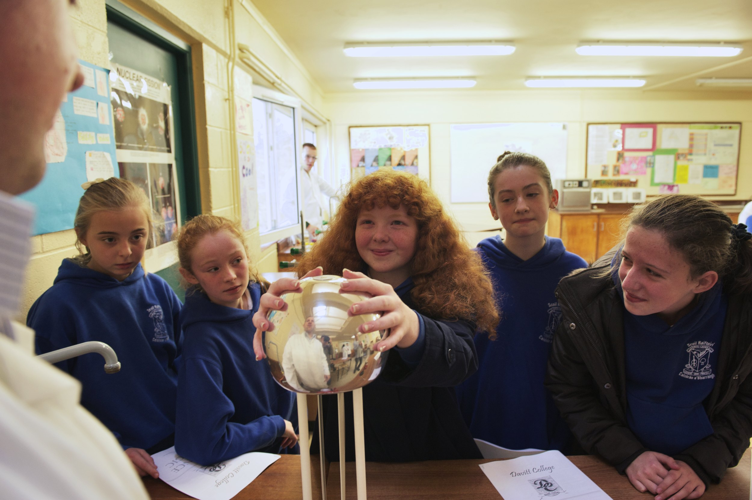 Students from Scoil Raifteiri, Castlebar are intrigued as they are shown Static Electricity during Science Week at Davitt College, a three-day science event for sixth class students from national schools in Castlebar and surrounding districts