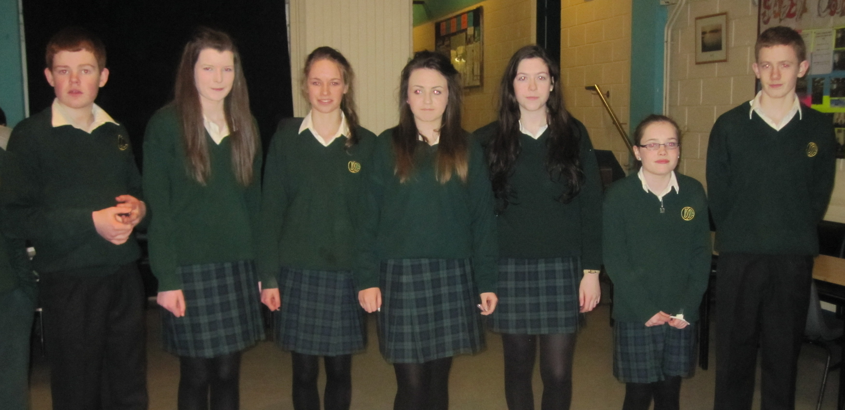 Davitt College Student Council Members model the new uniform