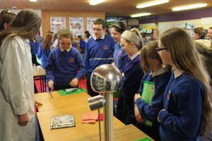 Students from Ballyheane Primary School are intrigued as they are shown Static Electricity by Transition Year Students, during The Science & Technology Fair at Davitt College, a four-day Science and Technology event for sixth class students from Primary Schools in Castlebar and surrounding districts.