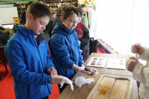 Students from Ballyvary Central Primary School analyse a dissected animal heart during Science & Technology Fair at Davitt College. This was just one in a range of Science Experiments and Computer Programming events that took place over the four day Science and Technology Fair.