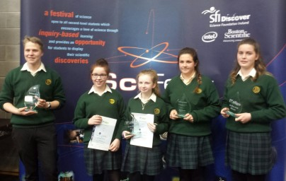 Davitt College Students sweep the Boards at National Scifest Competition 2016!